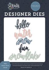 Winter Market: Hello Winter Word Die Set