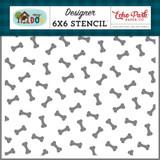 My Dog: Dog Bones 6x6 Stencil