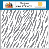 Zoo Adventure: Zebra 6x6 Stencil