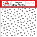 Cupid & Co: Love You 6x6 Stencil