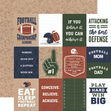 Football: 3x4 Journaling Cards