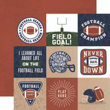 Football: 4x4 Journaling Cards