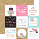 Magical Birthday Girl: 4x4 Journaling Cards