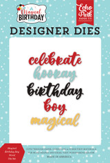 Magical Birthday Boy Word Die Set