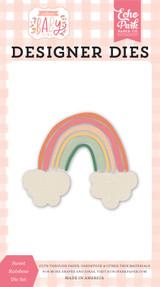 Welcome Baby Girl - Sweet Rainbow Die Set