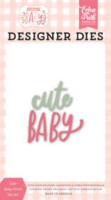 Welcome Baby Girl - Cute Baby Word Die Set