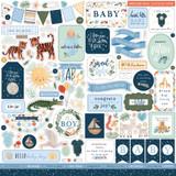 Welcome Baby Boy Element Sticker