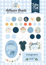Welcome Baby Boy - Adhesive Brads