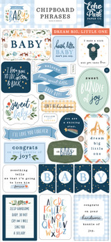 Welcome Baby Boy - 6x13 Chipboard Phrases