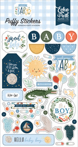 Welcome Baby Boy - Puffy Stickers