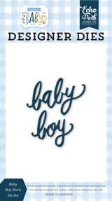 Welcome Baby Boy - Baby Boy Word Die Set