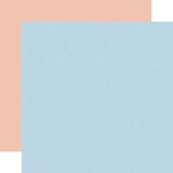 Little Dreamer Girl: Designer Solids - Light Blue/Light Pink