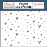 Little Dreamer Girl: Magical Hearts 6x6 Stencil