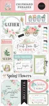 Flower Garden: 6x13 Chipboard Phrases