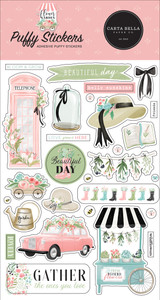Flower Garden: Flower Garden Puffy Stickers