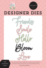 Flower Garden: Hello Friends Word Die Set