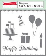 6x6 Stencil - Happy Birthday