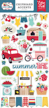 A Slice of Summer: 6x13 Chipboard Accents
