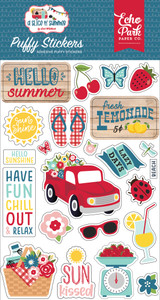 A Slice of Summer: Puffy Stickers