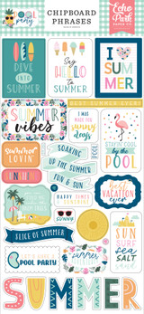Pool Party: 6x13 Chipboard Phrases
