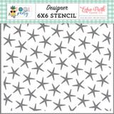 Pool Party: Summer Starfish 6x6 Stencil
