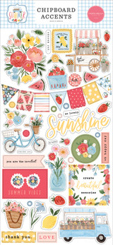 Summer: 6x13 Chipboard Accents
