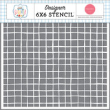 Summer: Summertime Grid 6x6 Stencil