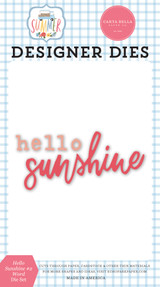 Summer: Hello Sunshine #2 Word Die Set