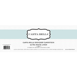Ultra White Linen 80lb Cardstock