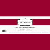 Burgundy Linen 80lb Cardstock