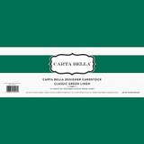 Classic Green Linen 80lb  Cardstock