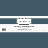 Nautical Blue Linen 80lb Cardstock