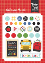 I Love School: Adhesive Brads