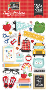 I Love School: Puffy Stickers