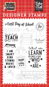 I Love School: First Day of School Stamp Set