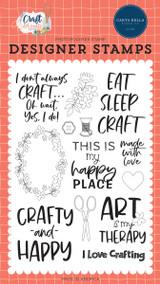 Craft & Create: Crafty & Happy Stamp Set
