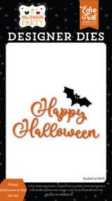 Halloween Party: Happy Hallowen & Bat Die Set