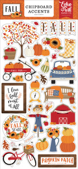 Fall 6x13 Chipboard Accents