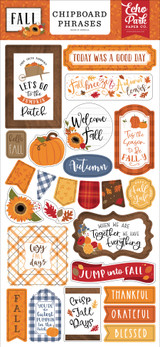 Fall 6x13 Chipboard Phrases