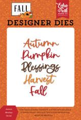 Fall: Autumn Blessings Die Set