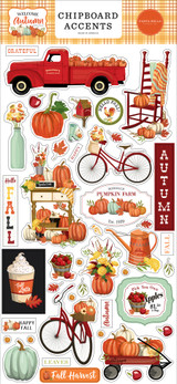 Welcome Autumn 6x13 Chipboard Accents