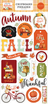 Welcome Autumn 6x13 Chipboard Phrases