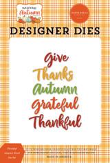 Welcome Autumn: Thankful Autumn Word Die Set