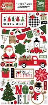 Jingle All The Way 6x13 Chipboard Accents