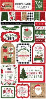 Jingle All The Way 6x13 Chipboard Phrases