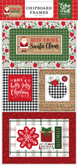 Jingle All The Way 6x13 Chipboard Frames