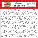 Jingle All The Way: Boughs of Holly Stencil