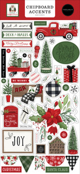 Home For Christmas 6x13 Chipboard Accents
