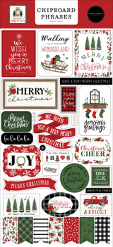 Home For Christmas 6x13 Chipboard Phrases