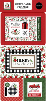 Home For Christmas 6x13 Chipboard Frames